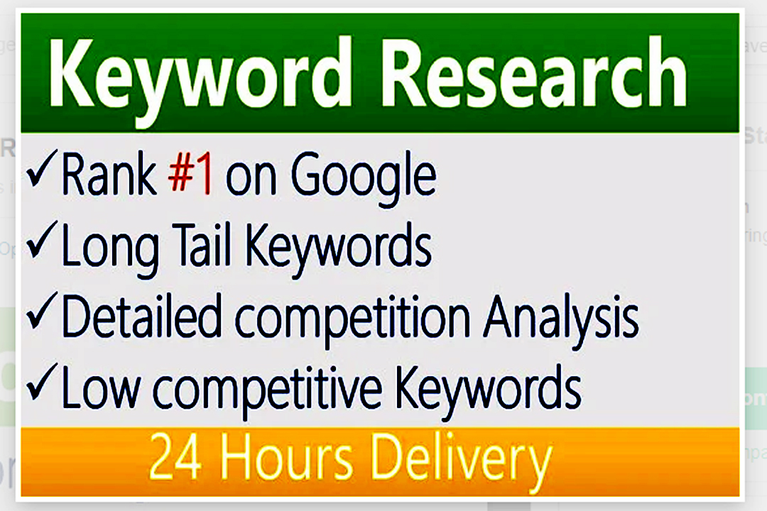 Do Keyword Research,  Competitor Analysis