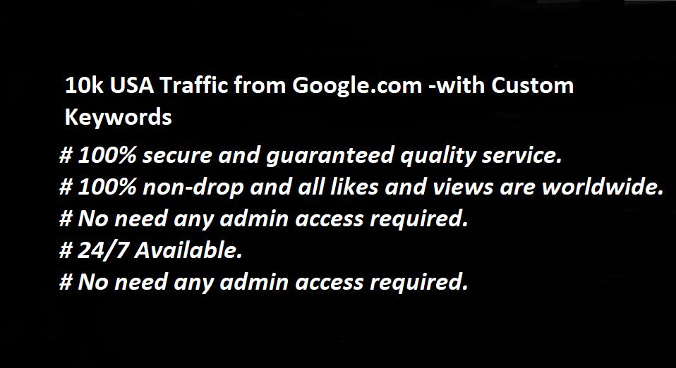 10k USA Organic Traffic from Google