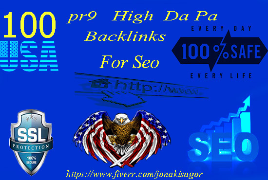 Do 100 USA High Domain Authority Pr9 Backlinks