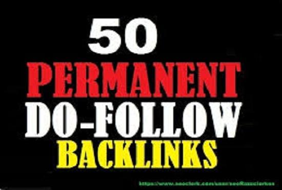 provide permanent 50 USA high quality seo link building backlinks