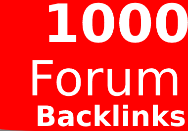 Get 1000 Forums Profile Backlinks