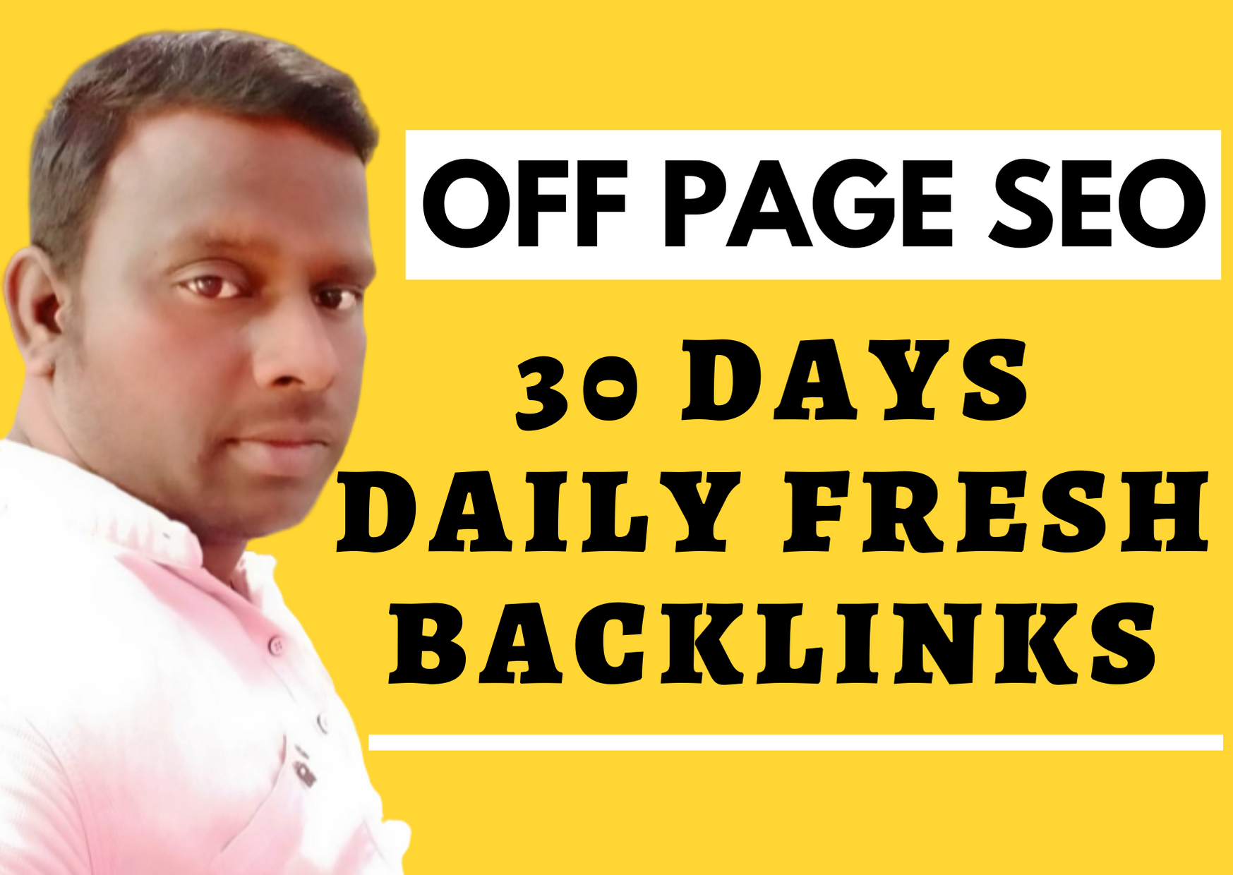 30 days daily fresh white Hat SEO backlinks for 1st page ranking