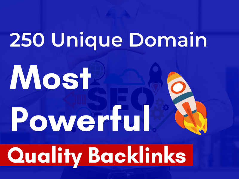 Professional off Page SEO/Link Building Service with 250 Unique Domain Backlinks
