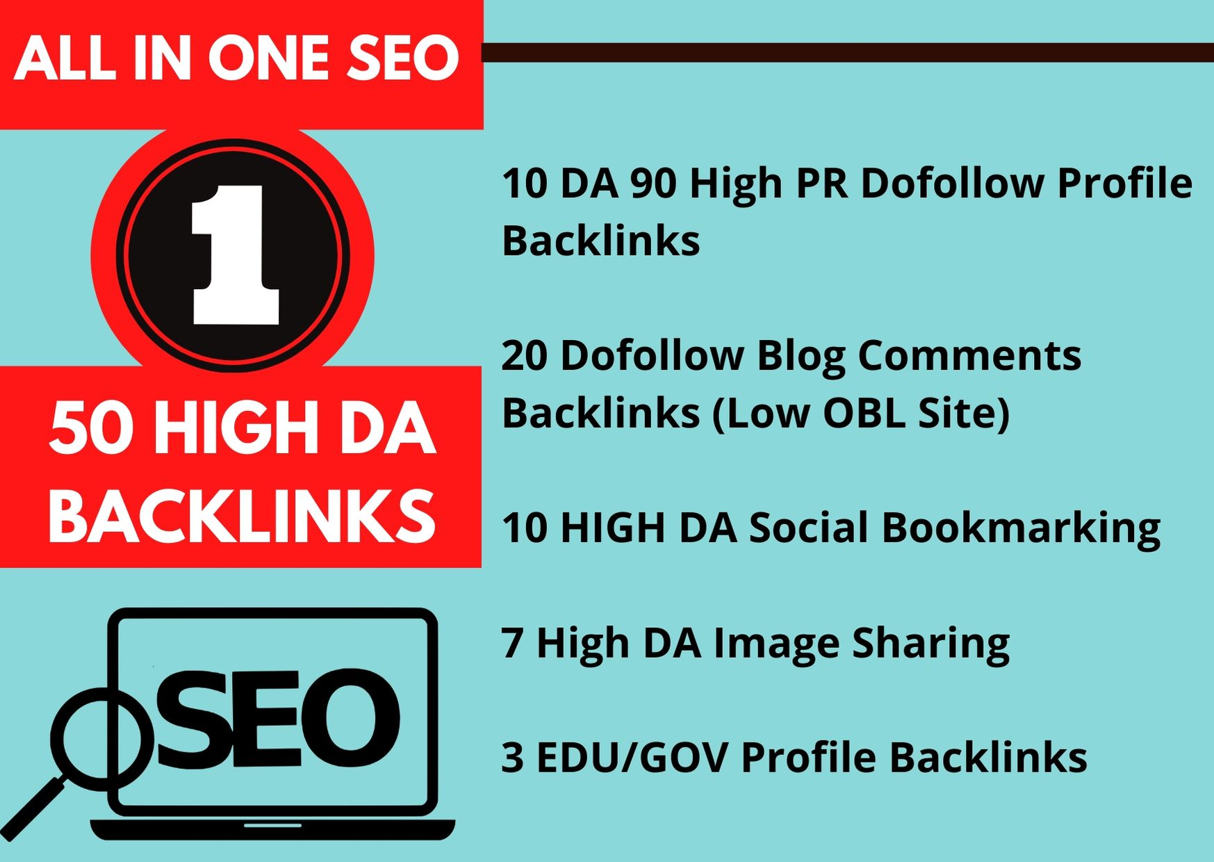 50 trusted high da authority backlinks for off page SEO