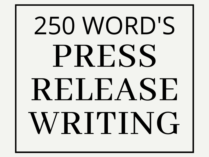 I will do best press release writing