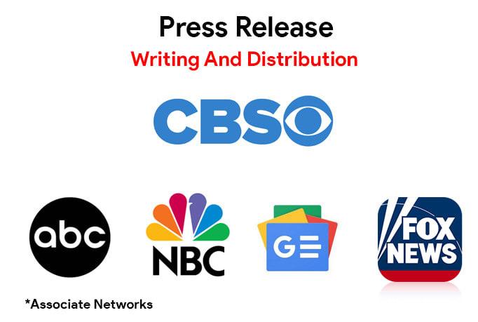 Press Release Distribution On CBS,  ABC,  NBC,  FOX, Google News & 300+ Sites