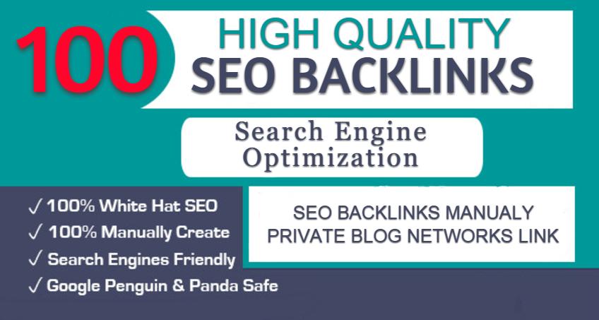 Do 100 SEO Backlinks Manually Privete Blog Network Links