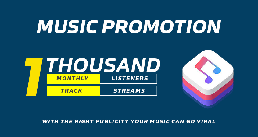 We Are Going To Promote YOUR MUSIC with monthly listeners or Track Streams