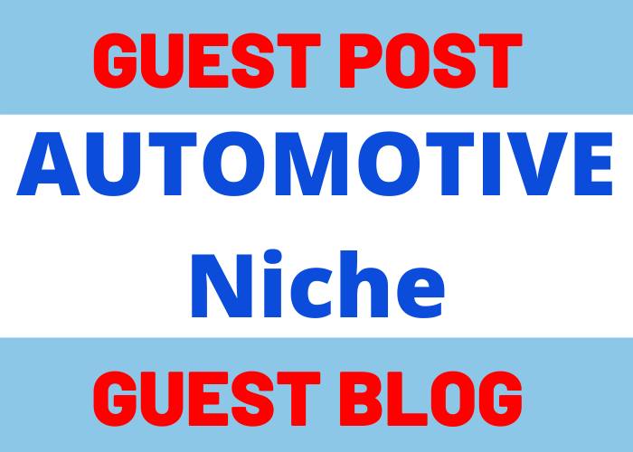 Write & Publish 1 Guest Post Blog Post On Automotive Niche Website blogmagazine. net