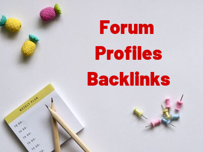 200 Forum Profiles Backlinks Very High Indexer