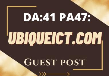 Publish Guest Post On ubiqueict. com No-Follow and Permanent Backlinks