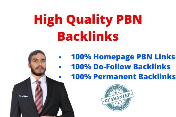 Create 10 High PA DA TF CF Homepage PBN Dofollow Backlinks For your website