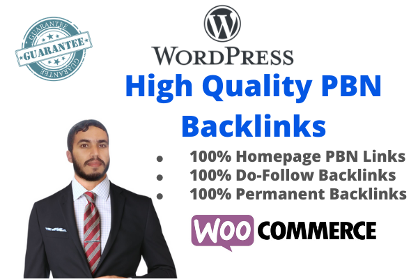 Create 10 High PA DA TF CF Homepage PBN Dofollow Backlinks For your Woocommerce Store