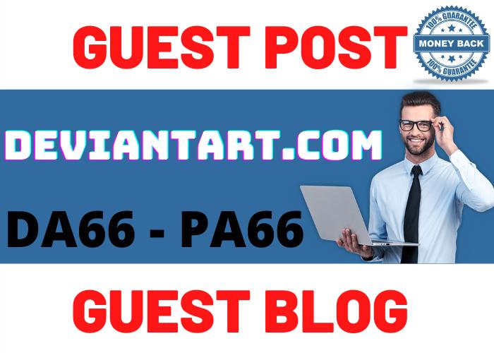 Publish Guest Post On deviantart. com Do-Follow and Permanent Backlinks