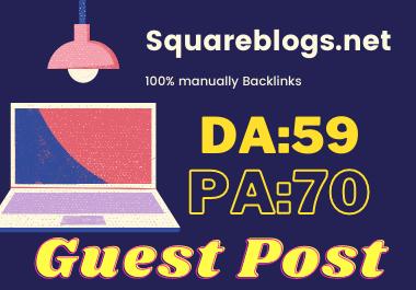 Publish Guest Post On Squareblogs. net No-Follow and Permanent Backlinks