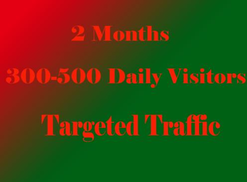 Website traffic run for 60 days