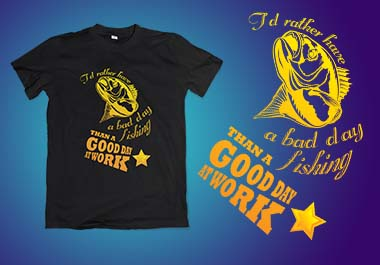 Custom and Typography T-shirt Design in 24 hour