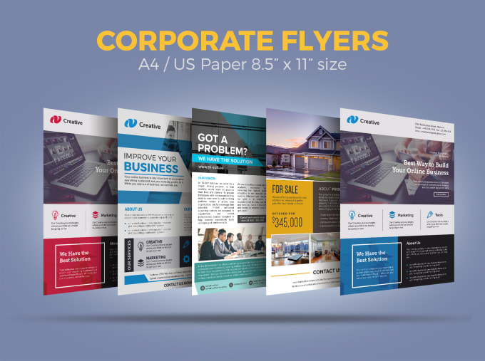 I will design business, corporate flyer
