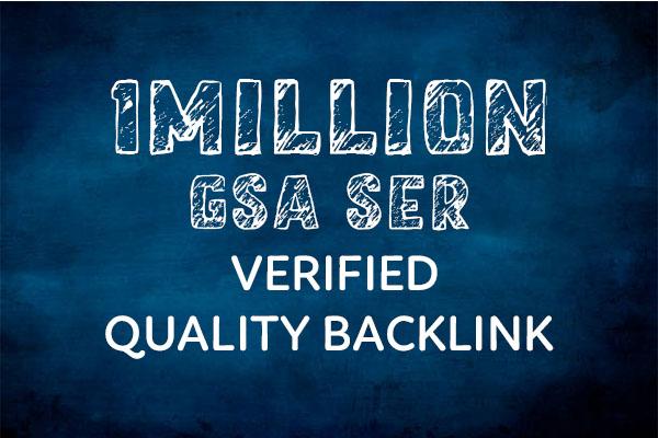 I will provide 1M Gsa Ser Verified Quality Backlinks
