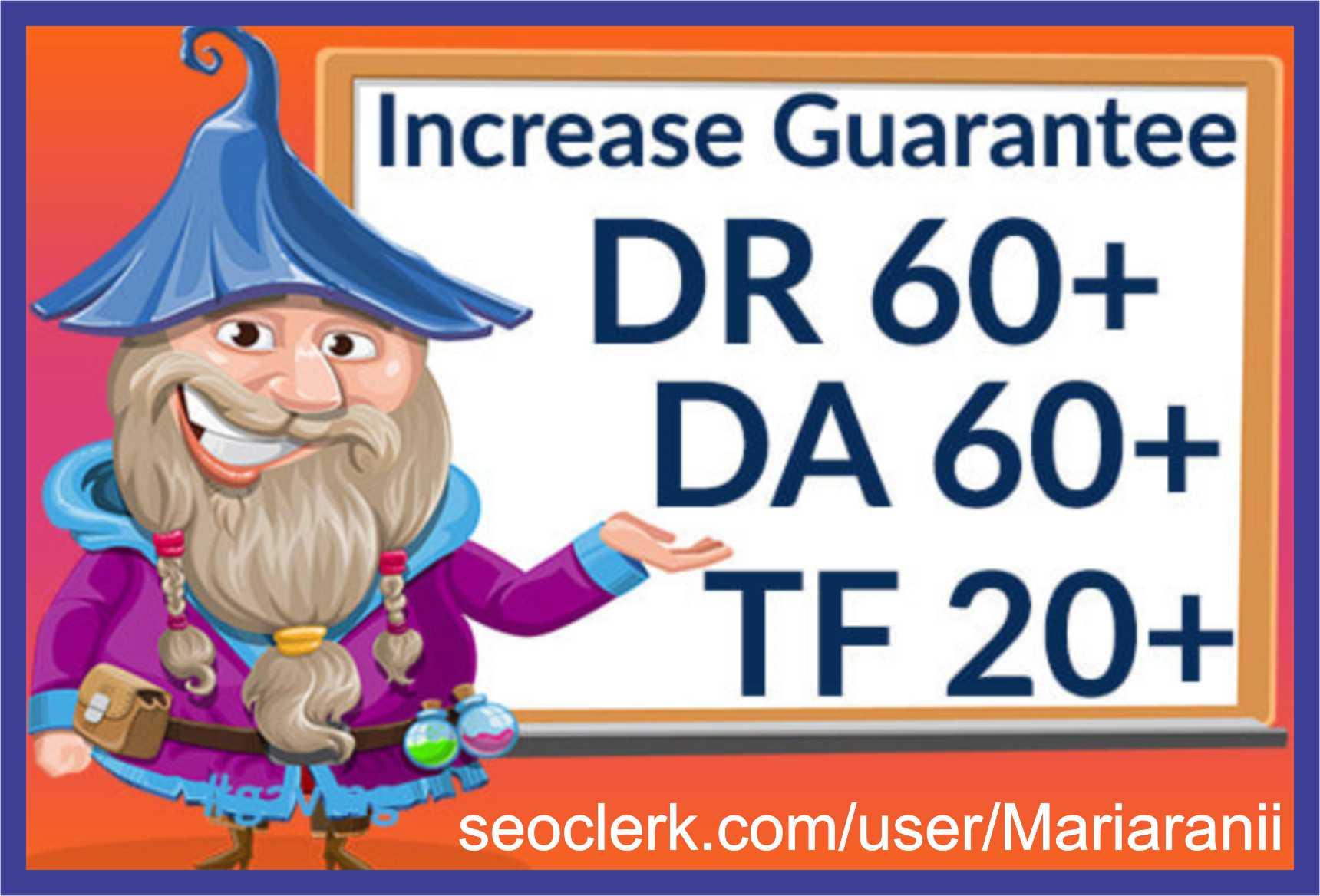 increase domain rating DR ahrefs domain authority da tf