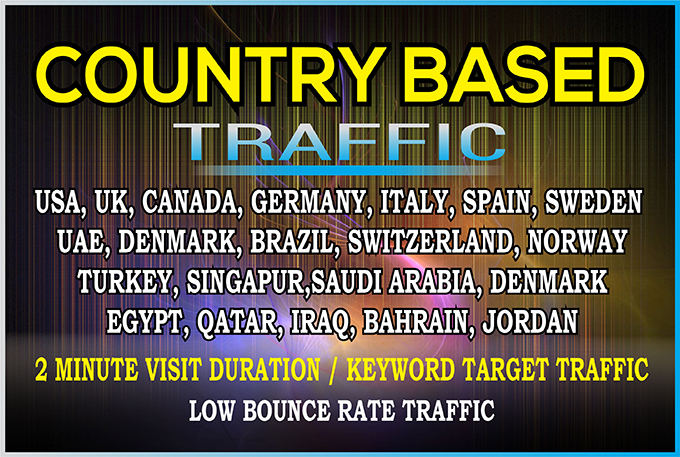 send daily 500 niche targeted real web traffic,  visitors from USA,  UK