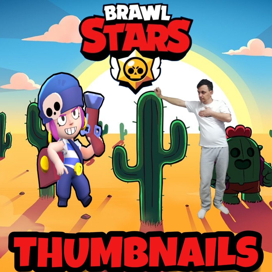 Creating an awesome BRAWL STARS thumbnail with free B...