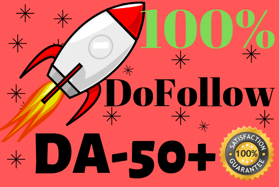 Create 30 DA50+ only DoFollow Backlinks with Free Unique article submission