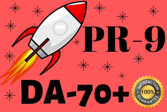 Create 20 DA70+ PR9 high authority DoFollow backlinks for Google ranking
