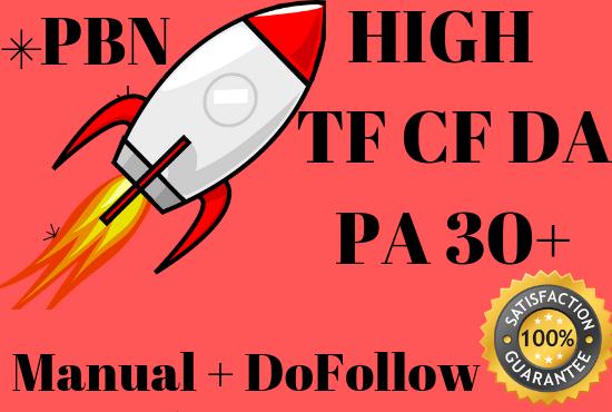 provide 25 PBN Backlinks with High TF CF DA PA Dofollow Links Homepage SEO