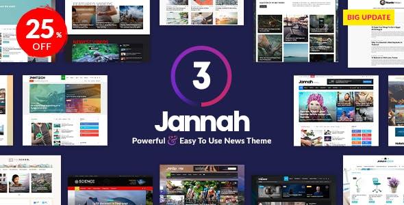 Install Jannah ( Premium Newspaper Style) Theme on your wordpress
