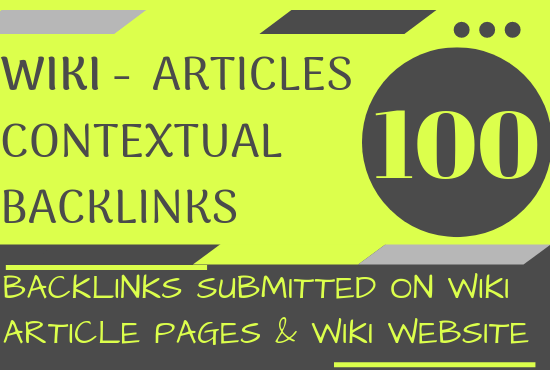 100+ wiki articles contextual backlinks