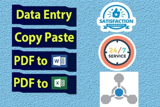 I Will Do Any Kind of Data Entry, Copy Paste and Typing Work