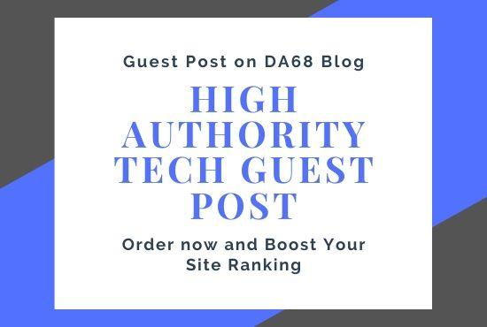 Guest post on high authority DA68 900k traffic tech blog