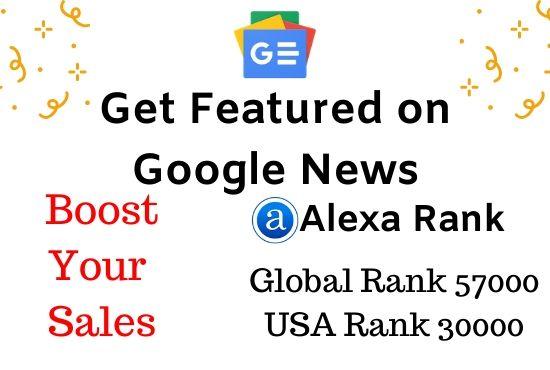 publish on da 80 google news site backlink