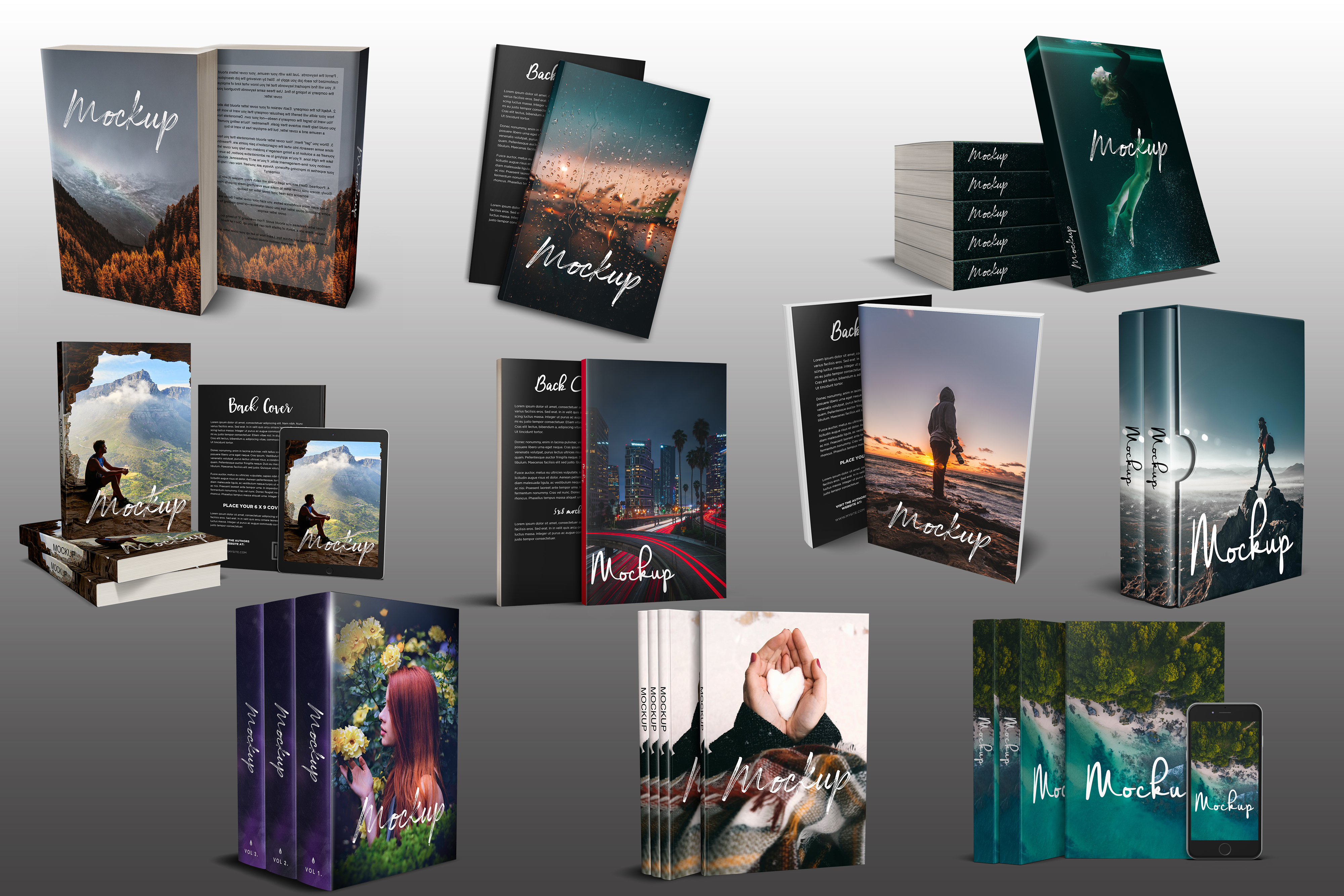 Do Create a 3d Ebook Mockups for your ebook cover