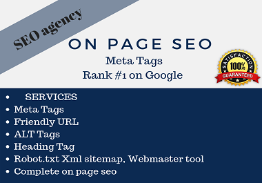 do onpage seo write meta tags,  tilte,  description,  alt tag rank website first page