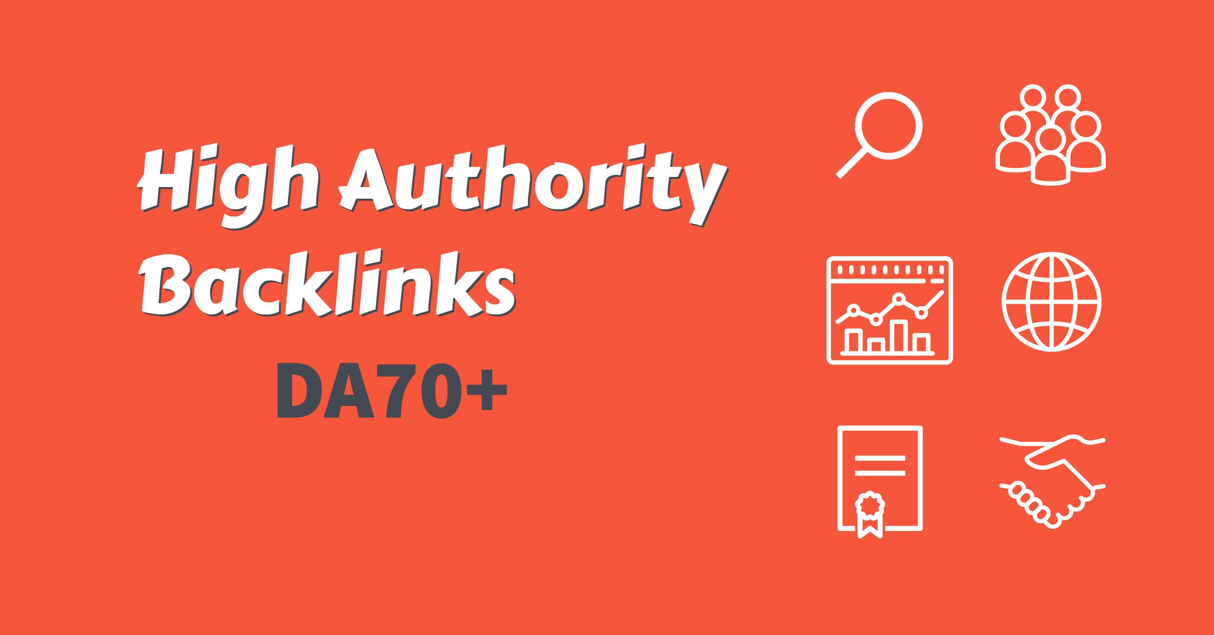 Create Manually 30 High DA90 Authority Backlinks + 10 High PR9 Social Bookmark