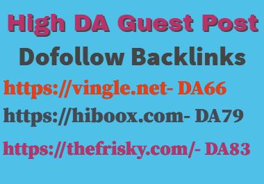 I Will Publish Guest Post On hiboox,  the frisky,  vingle DA83