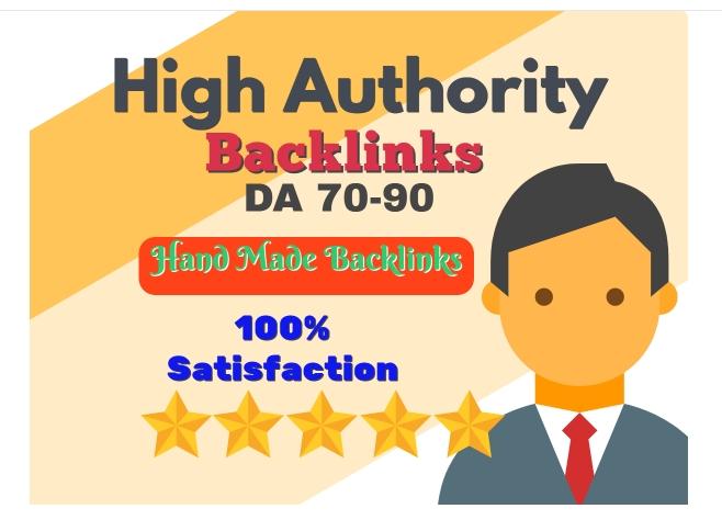 I will Manually create 50 DA90 Dofollow Backlinks+10 High PR9 Social Bookmark
