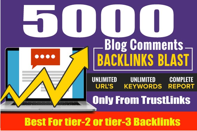 Create 5,000 Blog Comments Backlinks,  Best For tier2/3 Links