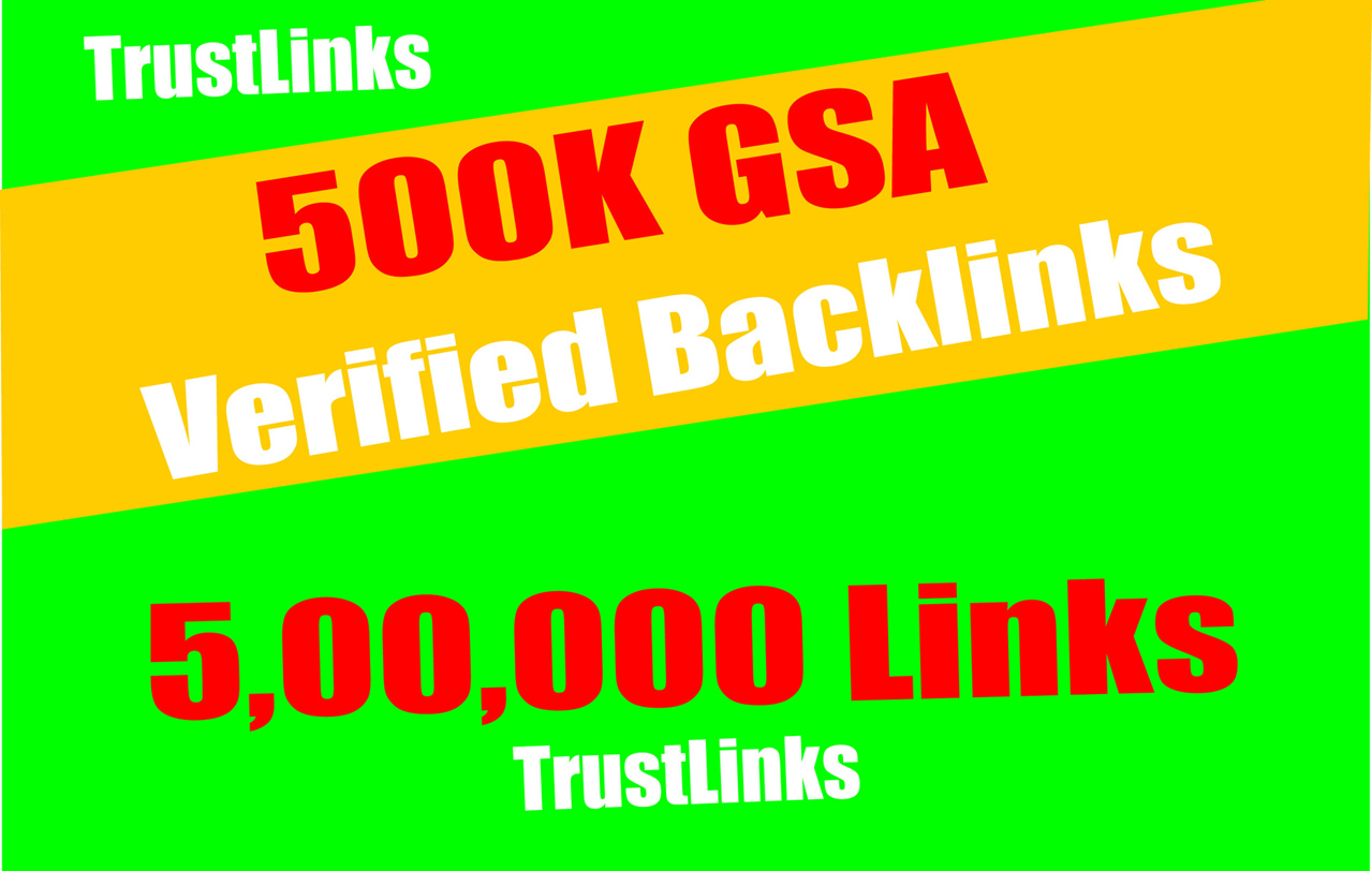 5, 00,000 GSA SER Backlinks easy Link Juice- & Faster Index