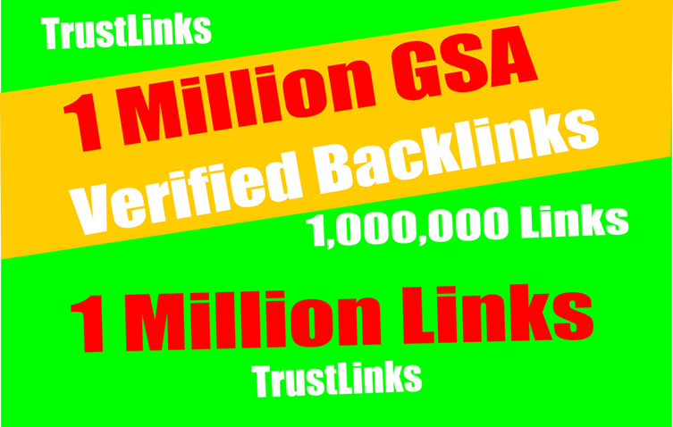 1 Million GSA SER Backlinks easy Link Juice- & Faster Index