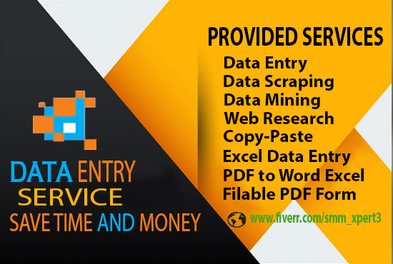 Professional Data Entry,  Data Scraping specialist