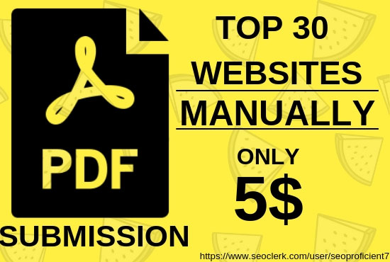 PDF Submission Manually In Top 30 Document Sharing Sites