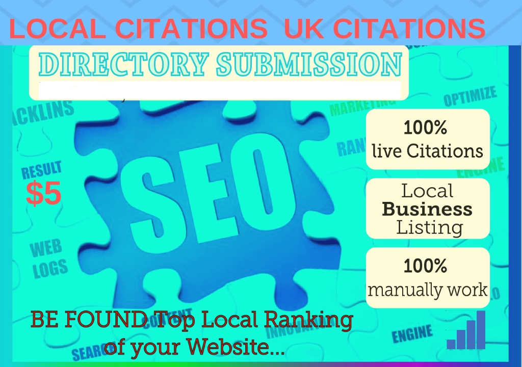 I provide top 100 local citations UK citations USA local listing