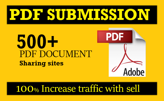 I will do PDF submission in 100 document sharing sites