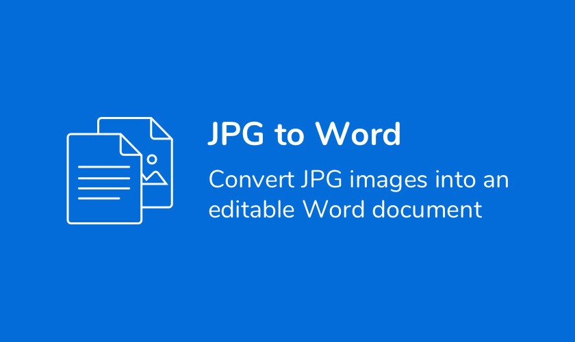 I can do convert JPG to Word file