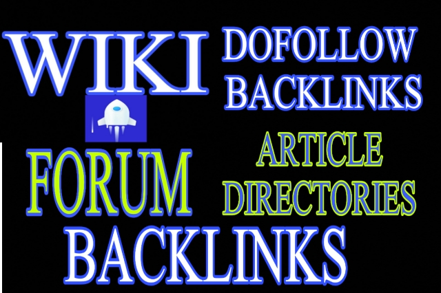 4000 backlinks dofollow,  forum,  wiki and article directories