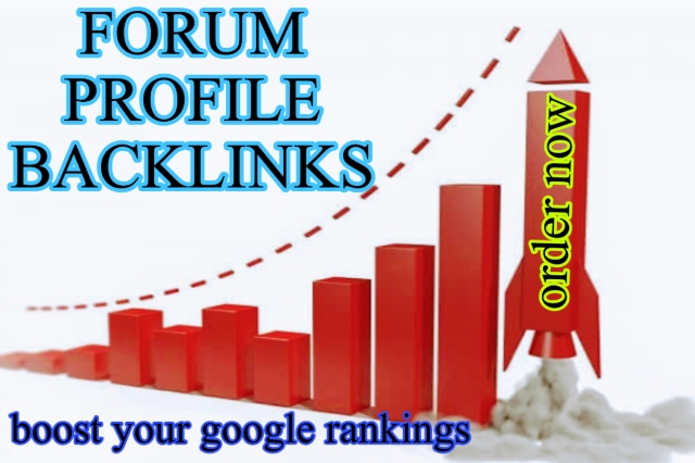 2000+ forum profile backlinks from high quality forums