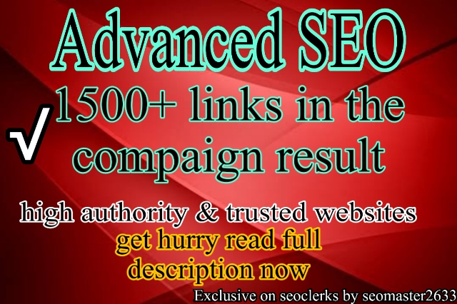 2020 full monthly compaign 1500+ links in the campaign results